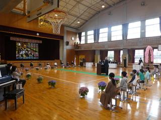 市長室【市長フォト】樋田小学校入学式